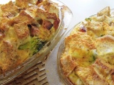Easy Brunch – Ham, Broccoli and Cheese Strata