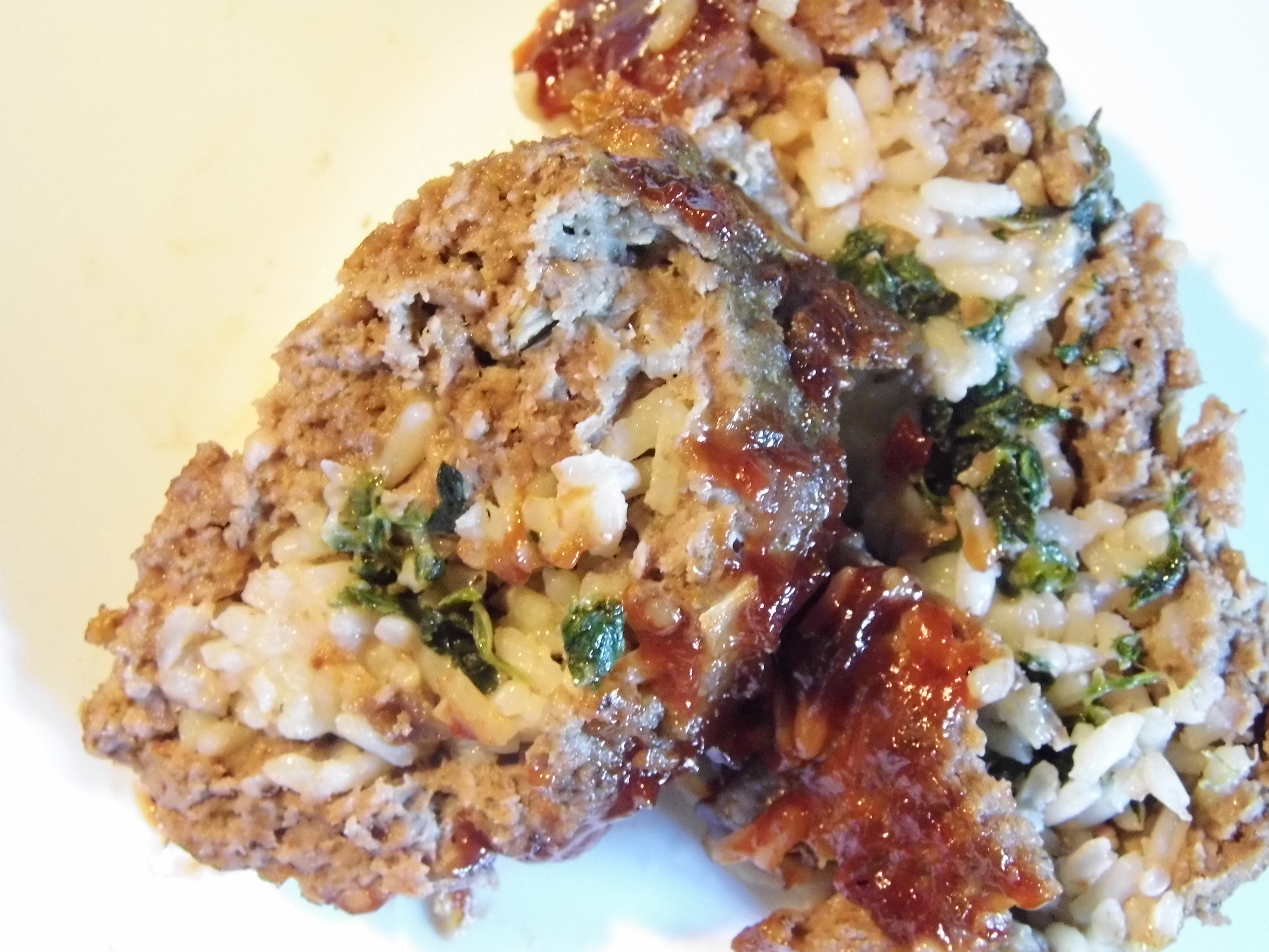 Spinach, Rice and Cheese Stuffed Meatloaf | A Modern Christian Woman