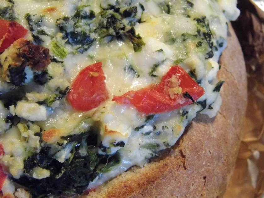 Four Cheese Baked Spinach Dip