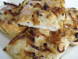 Focaccia With Roasted Onions, Garlic and CrackedPepper