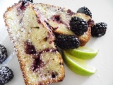 Blackberry Lime Swirl Snack Cake