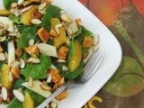 Fruit and Spinach Salad with Almonds and Orange Vinaigrette